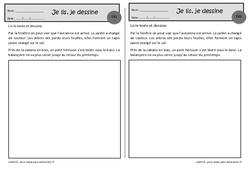 L'automne – Je lis, je dessine – Ce1 – Exercices de lecture – Cycle 2
