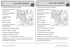 Les chaussettes de noël – Je lis des consignes – Ce1 – Exercices de lecture – Cycle 2