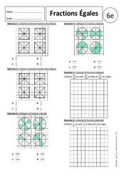 Fraction et partage - 6ème - Exercices corrigés - Ecritures fractionnaires