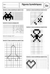 Figures symétriques – Exercices corrigés – 6ème – Symétrie axiale