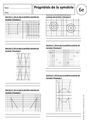 Propriétés de la symétrie – Exercices corrigés – 6ème – Symétrie axiale