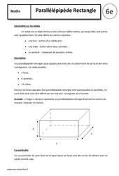 Parallélépipède rectangle – Cours – 6ème – Géométrie