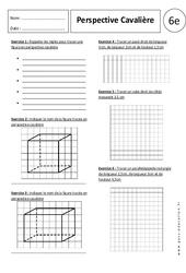 Perspective cavalière – 6ème – Exercices corrigés – Parallélépipède rectangle