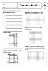 Perspective cavalière – Exercices corrigés – 6ème – Parallélépipède rectangle