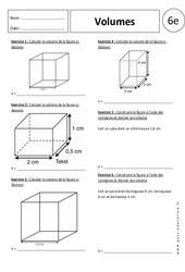 Volumes – 6ème – Exercices corrigés –  Parallélépipède rectangle