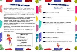 Le prince de Motordu - Ce1 - Récit - Lecture compréhension - Cycle 2