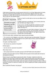 La princesse parfaite – Conte – Ce1 – Lecture compréhension – Cycle 2