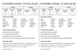 Son [ə], [ø], [œ] - e - eu - œu - eu - œu -  e ouvert et e fermé – Ce1 – Phonologie – Etude des sons