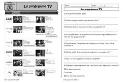Programme tv - Ecrit fonctionnel – Ce1 – Lecture compréhension - Cycle 2