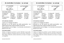 g - gu – Ce1 – Phonologie – Cycle 2 - Etude des sons