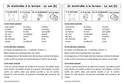 Fiche de lecture – Son [k] – c – q – qu – k – Ce1 – Cycle 2 – Etude des sons