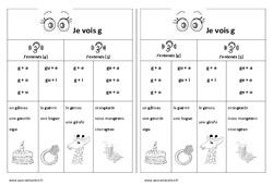 Fiche mémo élève – Valeurs de la lettre [g] – [ʒ] – Cp – Ce1– Cycle 2