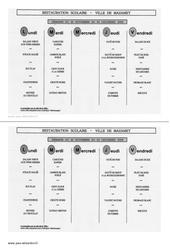 Menu de la cantine - Ce1 - Ecrit fonctionnel - Lecture - Cycle 2