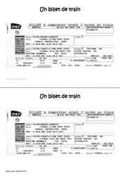 Un billet de train – Ce1 – Ecrit fonctionnel – Lecture – Cycle 2