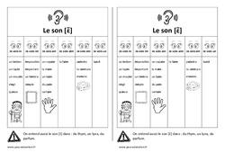 Fiche mémo élève - Son [ɛ̃] – in - im - ain - aim - ein - un - Cp – Ce1 – Cycle 2