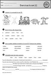 Exercices - Son [ɛ̃] – in - im - ain - aim - ein - un - Ce1 – Cycle 2