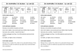 Fiche de lecture – Son [ɛ̃] – in – im – ain – aim – ein – un – Ce1 – Cycle 2