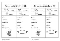 Fiche mémo élève - p et b – Ne pas confondre – Cp – Ce1 – Cycle 2