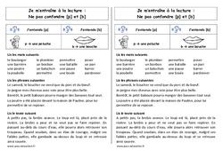 p et b – Ne pas confondre – Ce1 – Phonologie – Cycle 2 - Etude de sons