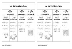 Fiche mémo élève – m devant m, b,p – Cp – Ce1– Cycle 2