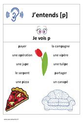 Son p – Cp – Ce1– Affiche pour la classe – Cycle 2