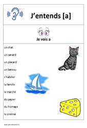 Son a – Cp – Ce1– Affiche pour la classe – Cycle 2