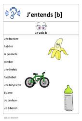 Son b – Cp – Ce1– Affiche pour la classe – Cycle 2
