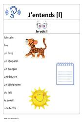 Son l – Cp – Ce1– Affiche pour la classe – Cycle 2