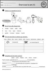 Exercices - Son t – Ce1 – Cycle 2 - Etude des sons