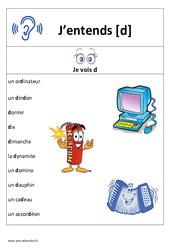 Son d – Cp – Ce1– Affiche pour la classe – Cycle 2