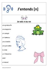 Son n – Cp – Ce1– Affiche pour la classe – Cycle 2