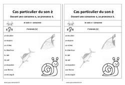 Fiche mémo élève - Son è – Devant une consonne - Cp – Ce1 – Cycle 2