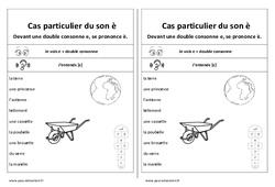 Fiche mémo élève - Son è devant 2 consonnes – Cp – Ce1 – Cycle 2