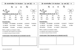 Son n – Cp – Phonologie – Etude des sons – Cycle 2