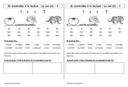 Son t – Cp – Phonologie – Etude des sons – Cycle 2