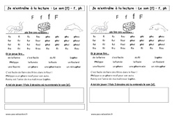 Son f – Cp – Phonologie – Etude des sons – Cycle 2