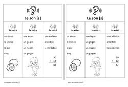 Fiche mémo élève – Son s - c, ç, t – Cp – Etude des sons – Cycle 2