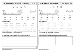 Son s – s, ss – Phonologie – Etude des sons – Cycle 2