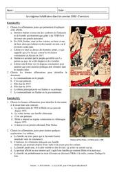 Les régimes totalitaires dans les années 1930 - 3ème - Exercices corrigés