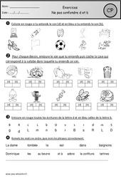 Ne pas confondre d et b – Cp – Exercices – Etude des sons – Cycle 2