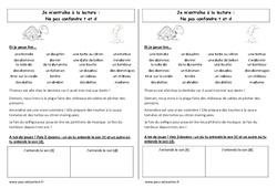 Fiche de lecture – Ne pas confondre t et d – Cp – Etude des sons – Cycle 2