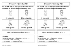 Adjectifs – Cp – Leçon