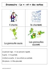 Le  -nt des verbes– Affiche pour la classe – Cp – Grammaire – Cycle 2