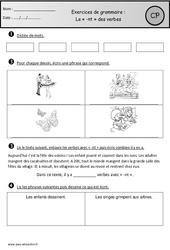 Révisions - -nt des verbes – Cp – Grammaire – Cycle 2