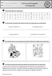 Exercices - Majuscules – Cp – Orthographe – Cycle 2