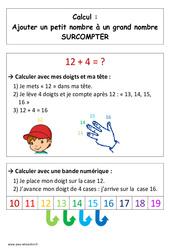 Technique de l'addition – Surcomptage – Cp – Affiche pour la classe – Cycle 2