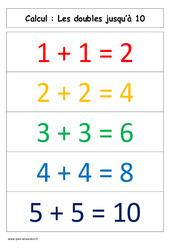 Doubles jusqu'à 10 – Cp – Affiche pour la classe – Calcul – Cycle 2