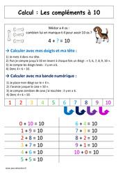 Compléments à 10 + la maison du 10 – Cp – Affiche pour la classe – Calcul – Cycle 2