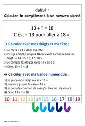 Calculer le complément – Cp – Affiche pour la classe – Calcul – Cycle 2