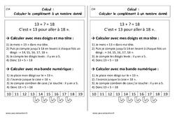 Calculer le complément à un nombre donné - Cp - Leçon